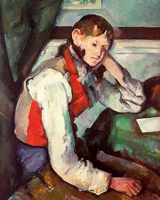 Boy in a Red Waistcoat. Paul Cezanne