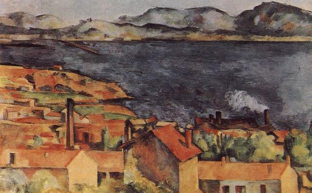 VIEW OF LESTAQUE, OIL. Paul Cezanne