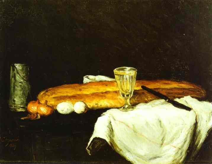 Bread and Eggs. Paul Cezanne