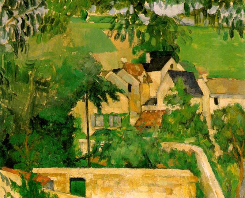 ETUDE- PAYSAGE A AUVERS (STUDY- LANDSCAPE AT AUVERS). Paul Cezanne