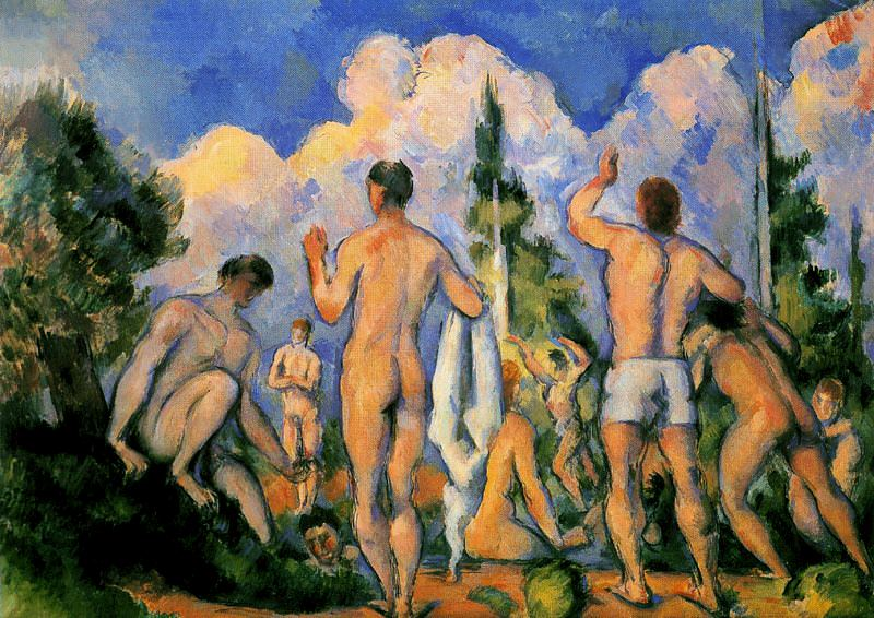 Группа (компания) купальщиков, 1885-87. Поль Сезанн
