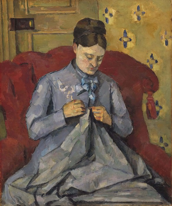 Portrait of the Artist's Wife. Paul Cezanne