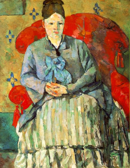 HORTENSE FIQUET IN A STRIPED SKIRT,1877-78, MUSEUM O. Paul Cezanne