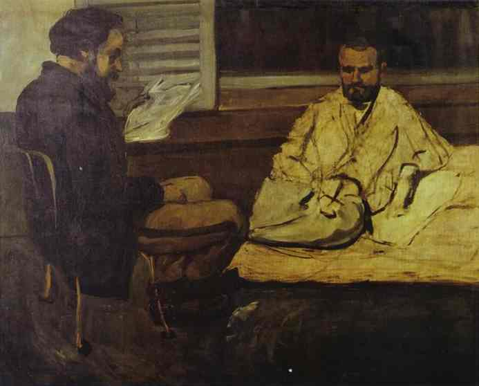 Paul Alexis Reading to Emile Zola. Paul Cezanne