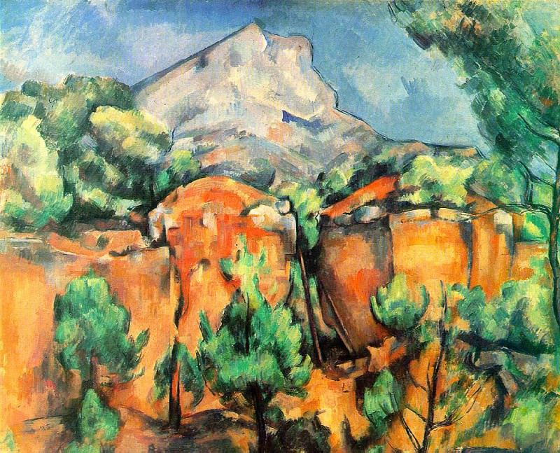 Mont Sainte-Victoire Seen from the Bibemus Quarry. Paul Cezanne