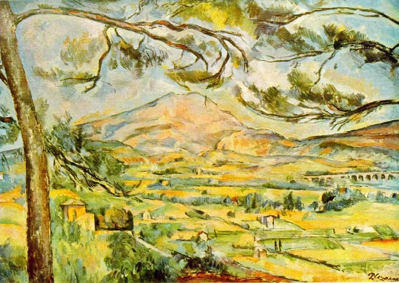 MONT SAINTE-VICTOIRE,1885-87, CORTAULD INST.OF ART,L. Paul Cezanne