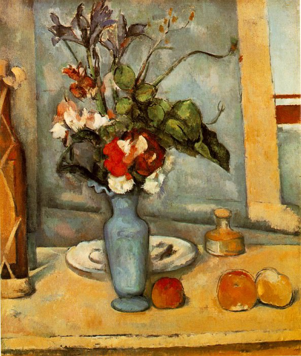 THE BLUE VASE,1883-87, MUSEE DORSAY, PARIS. Paul Cezanne