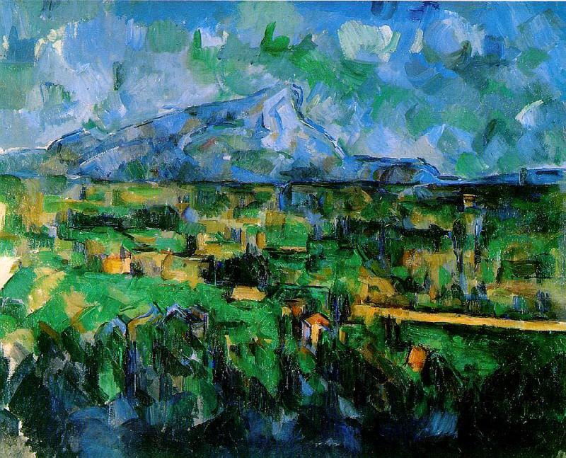 Mont Sainte-Victoire Seen from Les Lauves. Paul Cezanne
