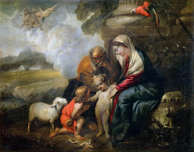 Holy Family and the Infant Saint John. Giovanni Benedetto Castiglione
