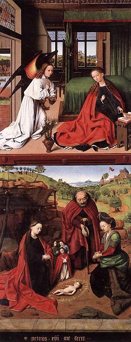 Благовещение и Рождество. Петрус Кристус