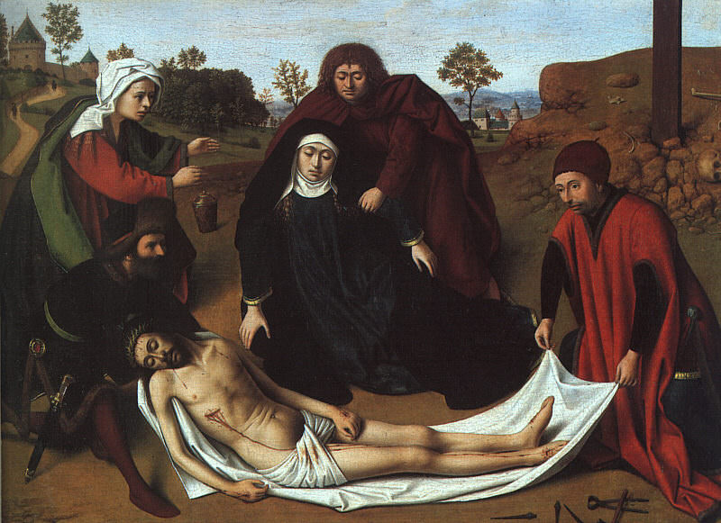 THE LAMENTATION, METROPOLITAN MOA NY. Petrus Christus