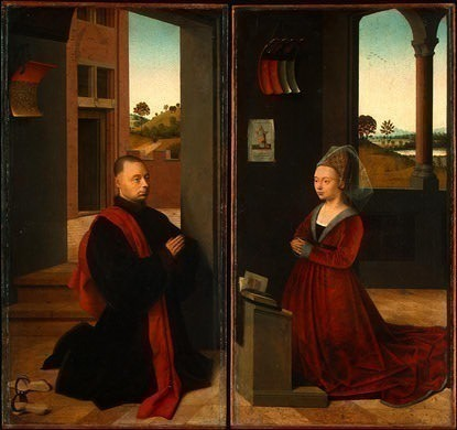 PORTRAIT OF A MALE DONOR, C. 1455, NG WASHINGTON. Petrus Christus