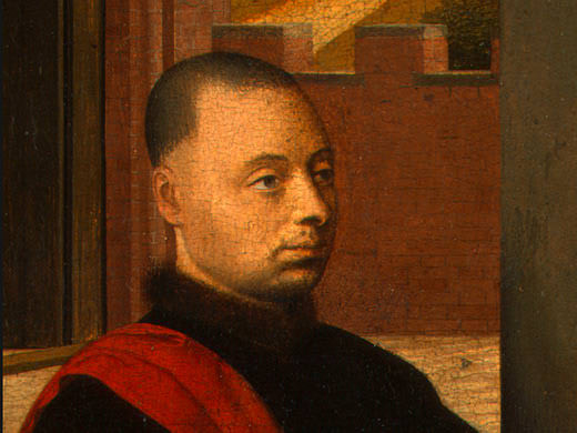 OF A MALE DONOR, DETALJ 1,C.1455, NG WASHI. Petrus Christus