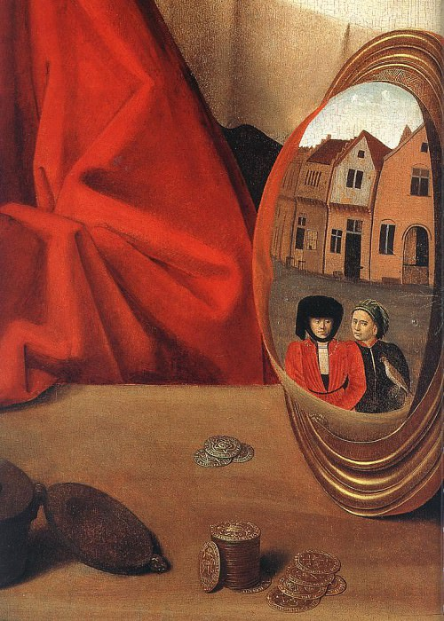 St Eligius In His Workshop detail. Petrus Christus