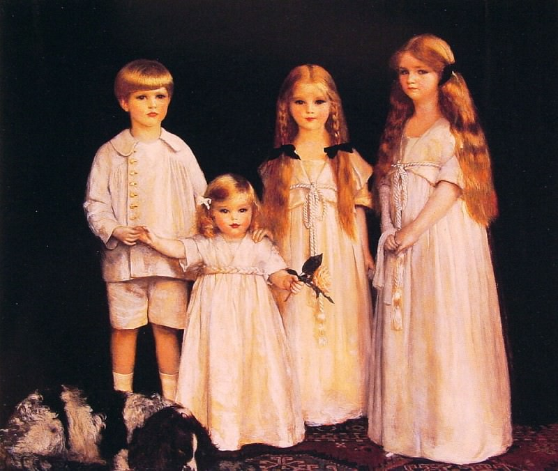 Portrait of Fraunces Beatrice James and Synfye Children of James Christie. Frank Cadogan Cowper