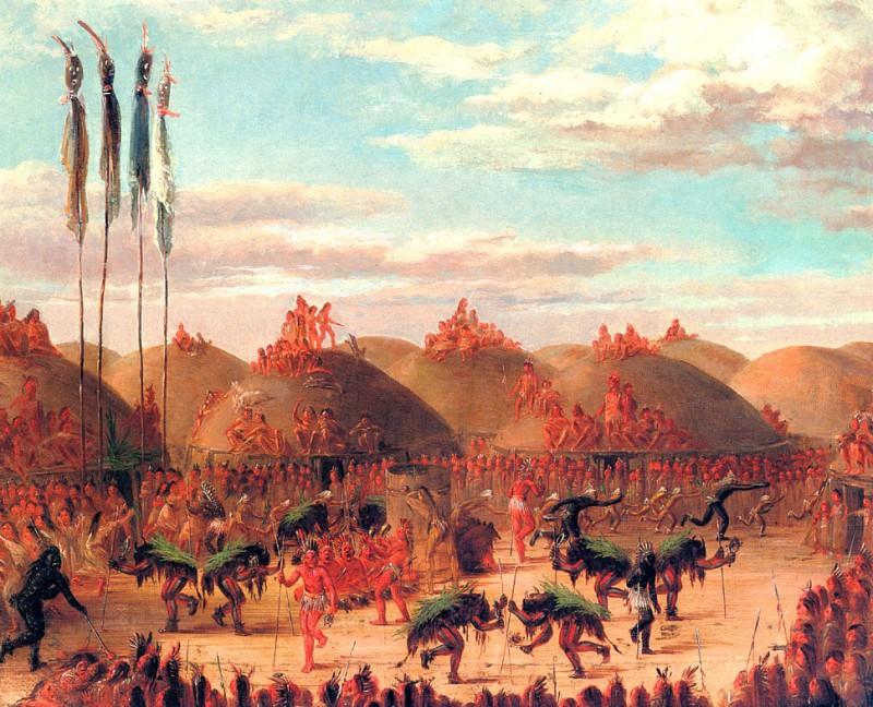 O-Kee-Pa Ceremony to make the buffalo come. George Catlin