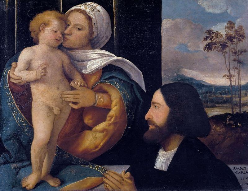 Мадонна с младенцем и поклонник. Кариани (Джованни Буси)