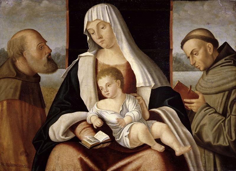 Мадонна с младенцем между святыми Иосифом и Франциском. Бенедетто Карпаччо