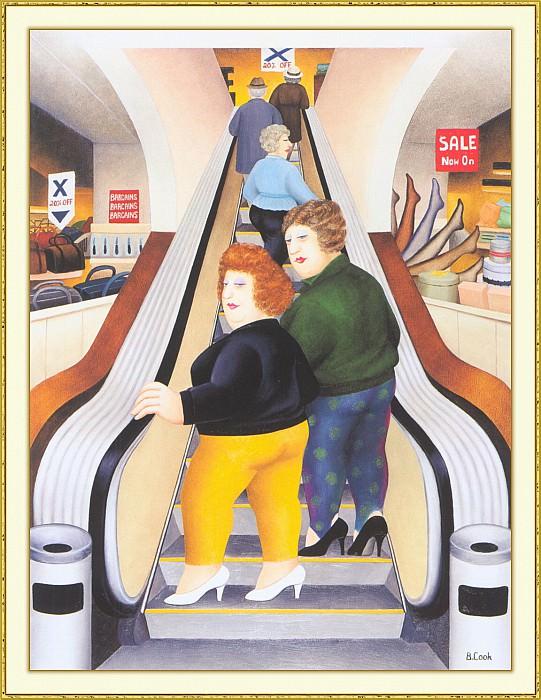 CookBeryl b28 The Escalator-WeaSDC. Beryl Cook