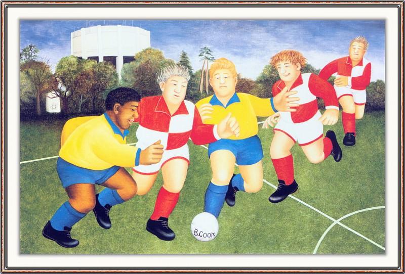 CookBeryl h09 Footballers on the Downs-WeaSDC. Beryl Cook
