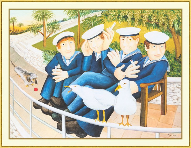 CookBeryl b08 Sailors and Seagulls-WeaSDC. Beryl Cook