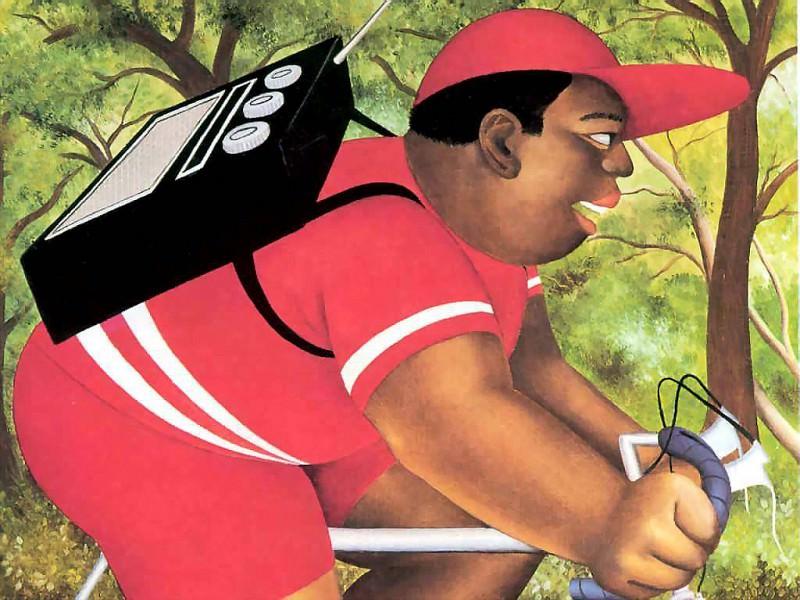 beryl cook csg005 bicyclist. Beryl Cook