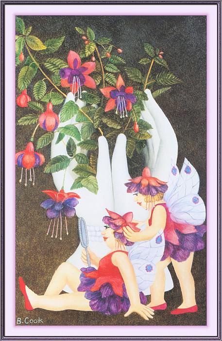 CookBeryl j26 Fuchsia Fairies-WeaSDC. Beryl Cook