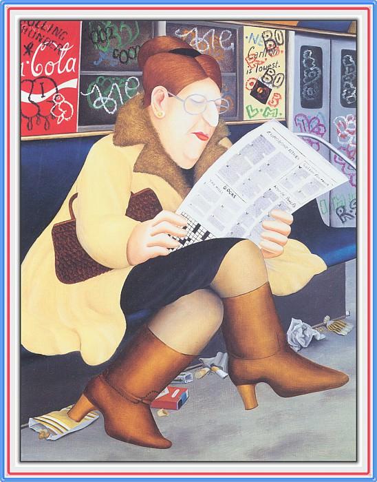 CookBeryl e19 Reading the Newspaper-WeaSDC. Beryl Cook