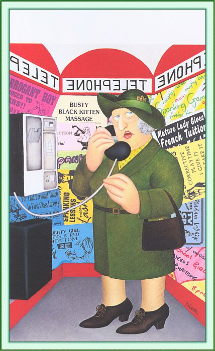 CookBeryl c19 Telephone-WeaSDC. Beryl Cook