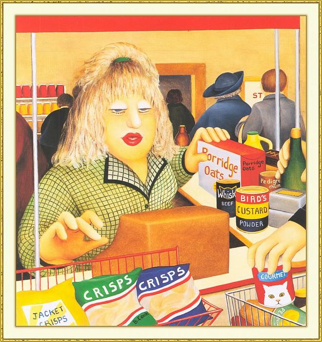 CookBeryl b25 Checkout Girl-WeaSDC. Beryl Cook