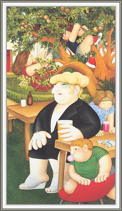 CookBeryl d13 Beer Garden-WeaSDC. Beryl Cook