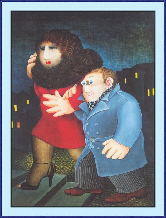 CookBeryl a40 Man with Blue Eyes-WeaSDC. Beryl Cook