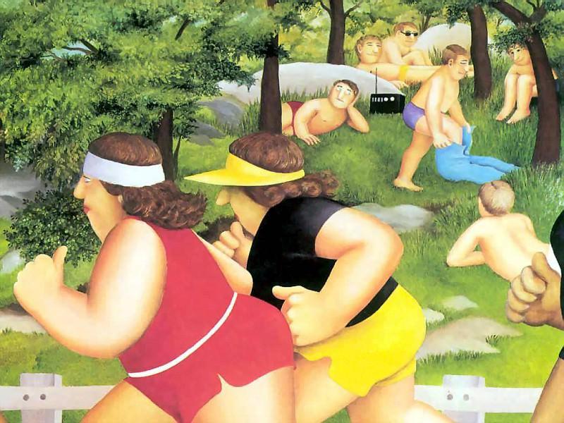 beryl cook csg003 six thousand women running. Beryl Cook