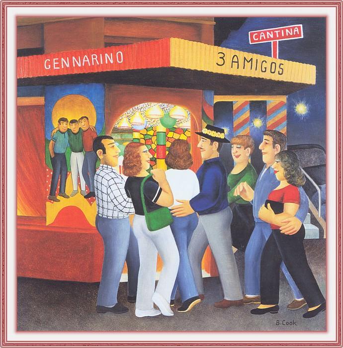 CookBeryl f18 Tres Amigos Cantina-WeaSDC. Beryl Cook
