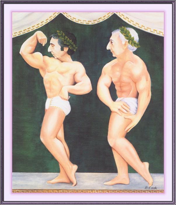 CookBeryl j29 Two Greek Gods-WeaSDC. Beryl Cook