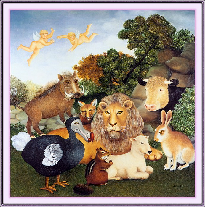 CookBeryl j20 The Peaceable Kingdom-WeaSDC. Beryl Cook