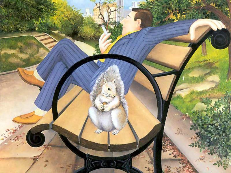 beryl cook csg004 the park bench. Beryl Cook