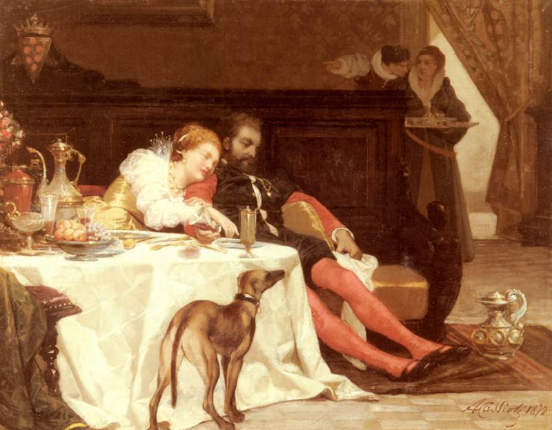 La Morte Di Bianca Capella. Amos Cassioli