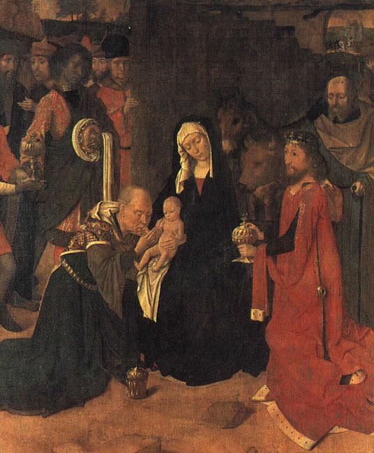 Поклонение волхвов, 1490. Герард Давид