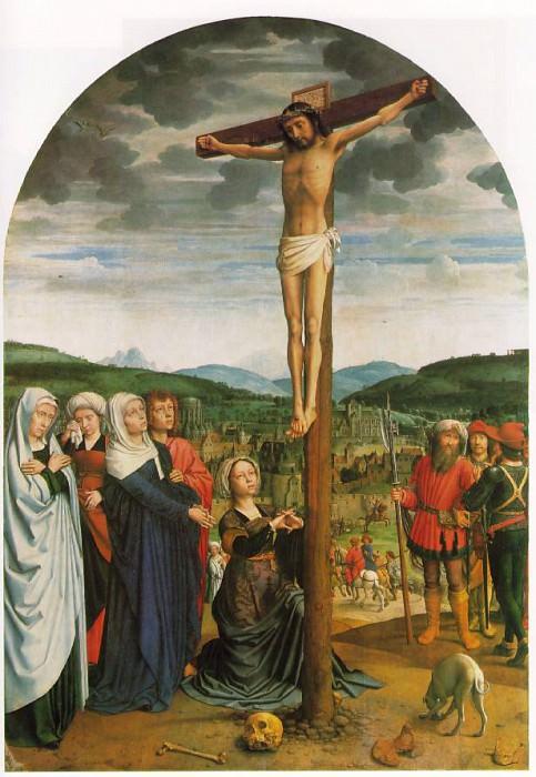 The crucifixion, ca 1515, 141x100 cm, Gemaeldegaler. Gerard David