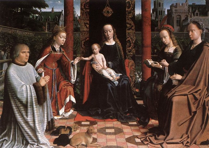 The Mystic Marriage of St Catherine. Gerard David