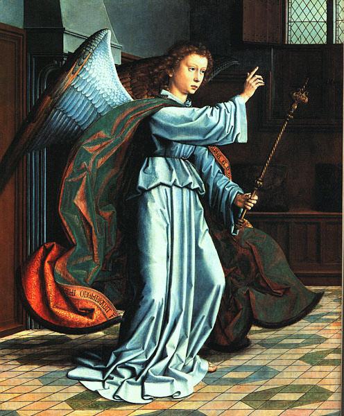 Ангел Благовещения, изначально часть.... Герард Давид