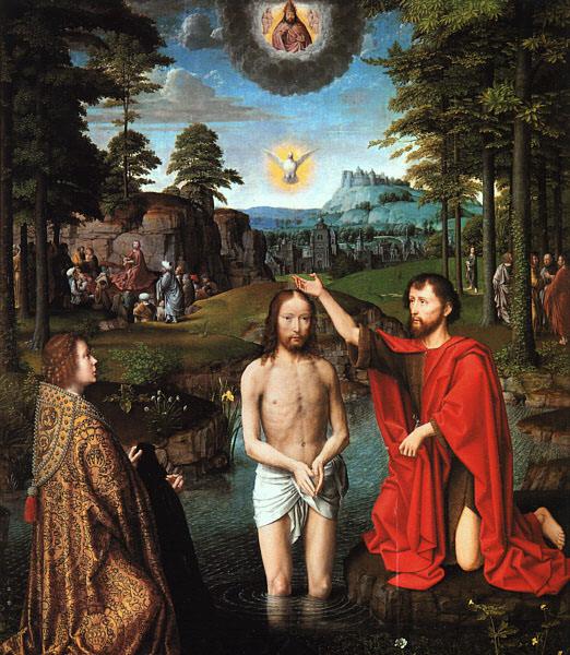 Триптих Жана де Тромпе - центральная панель. Герард Давид