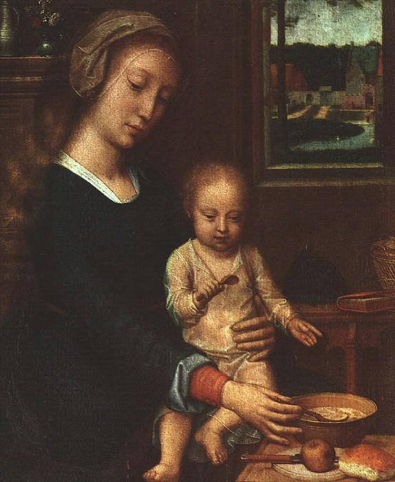 Мадонна с молочным супом, ок.1520. Герард Давид