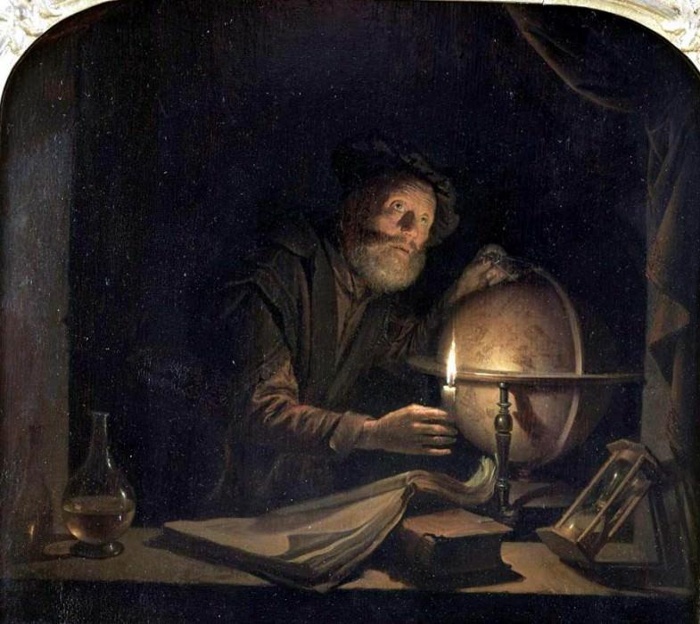astronom. Gerrit Dou