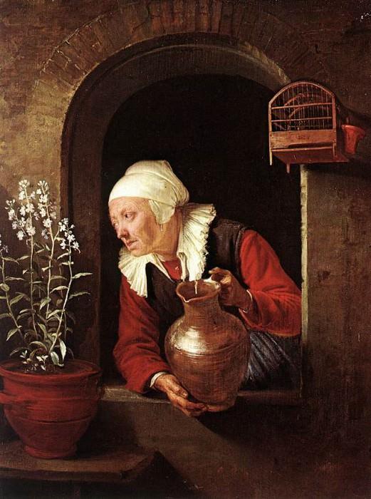 oldwoman. Gerrit Dou