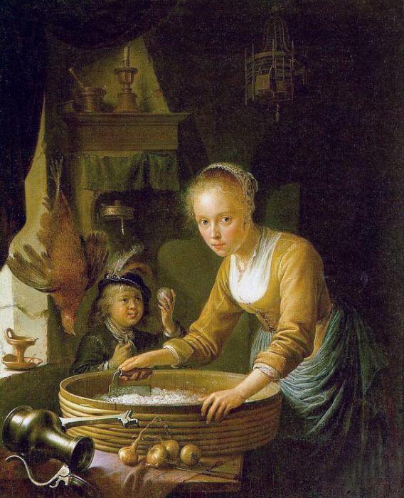 Onions. Gerrit Dou