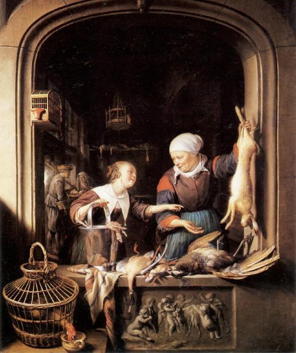 Лавка торговки домашней птицей. Геррит Доу