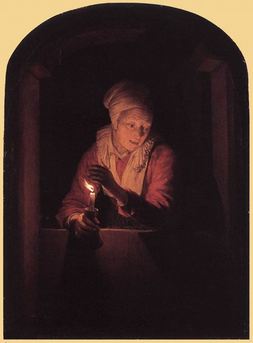 Old Woman with a Candle. Gerrit Dou