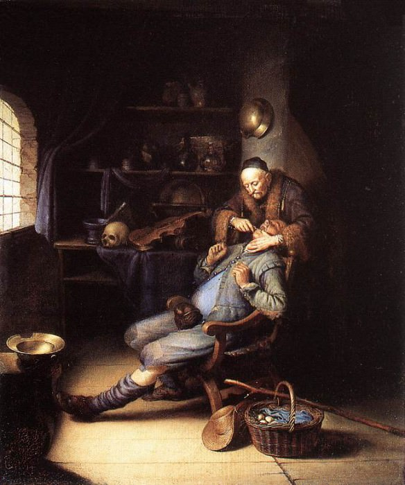 The Extraction of Tooth. Gerrit Dou